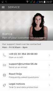 Number26 klantenservice